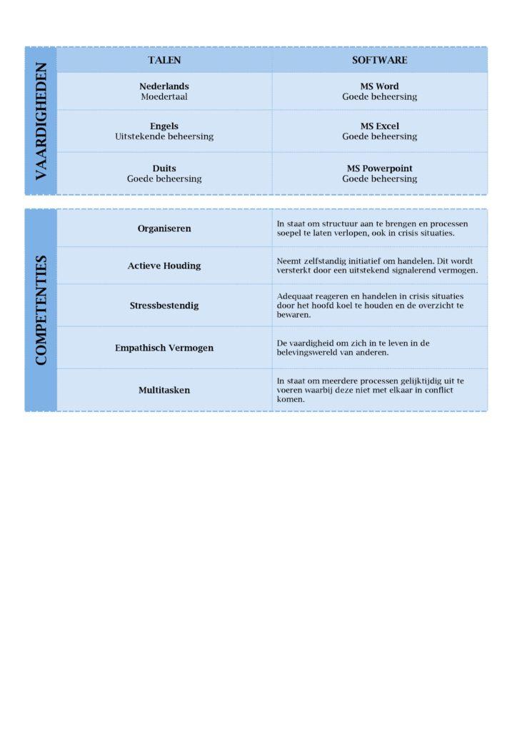 CV Voorbeeld Lancaster (Ocean World) 2/2, gratis cv maken met unieke curriculum vitae sjabloon, pagina 2