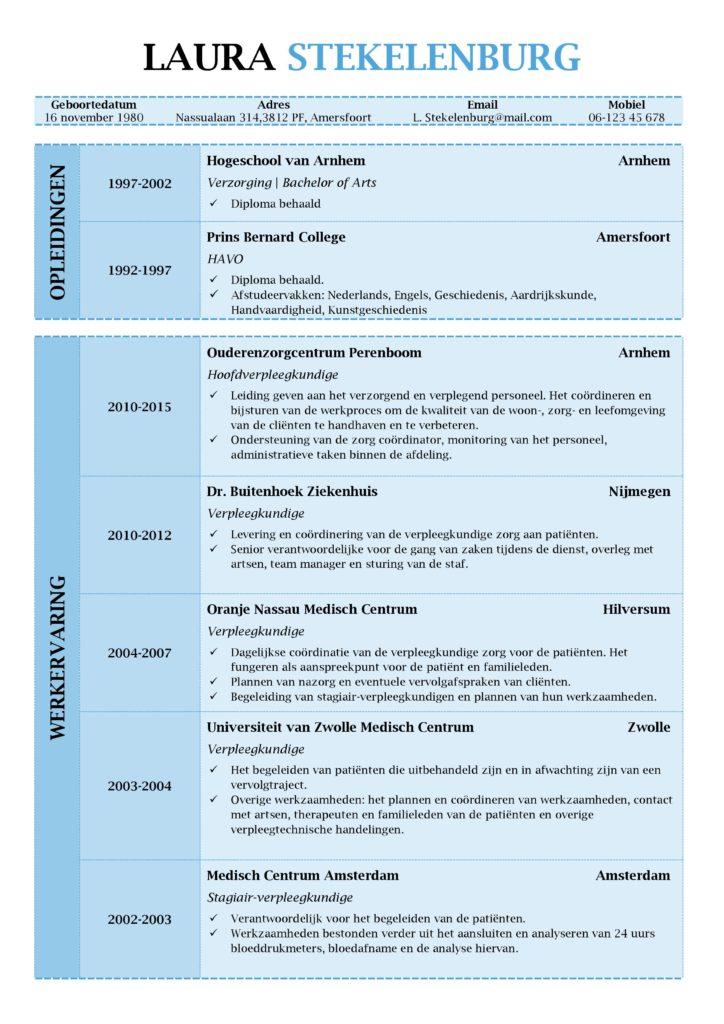 cv voorbeeld Lancaster (magic blue) 1/2, voorbeeld cv word, cv maken in word, gratis curriculum vitae, pagina 1