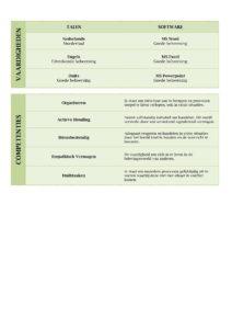 CV Lancaster (Olive Garden) 2/2, uniek cv sjabloon, gratis curriculum vitae voorbeeld, pagina 2