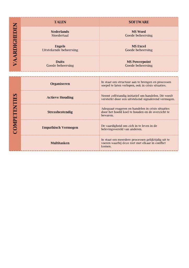 CV Voorbeeld Lancaster (Red Roma), 2/2, hoe ziet een curriculum vitae eruit?, gratis cv sjabloon zorg, curriculu, vite verpleegkundige, pagina 2