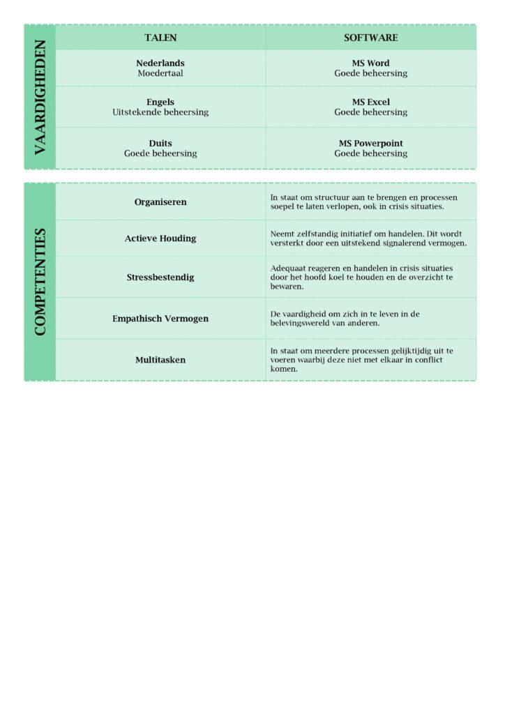 CV Voorbeeld Lancaster (Green Peace) 2/2, curriculum vitae maken met deze prachtige gratis cv sjabloon, pagina 2