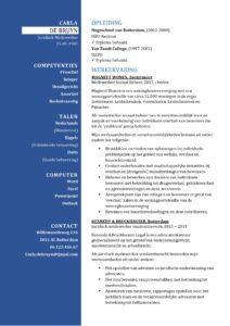 CV Sjabloon Bradford 1-2 (2 paginas)