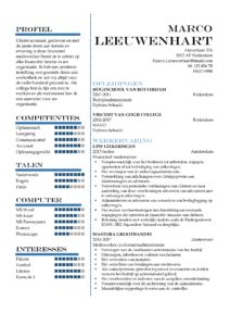 CV Sjabloon Greenwich 1-2 (2 paginas)