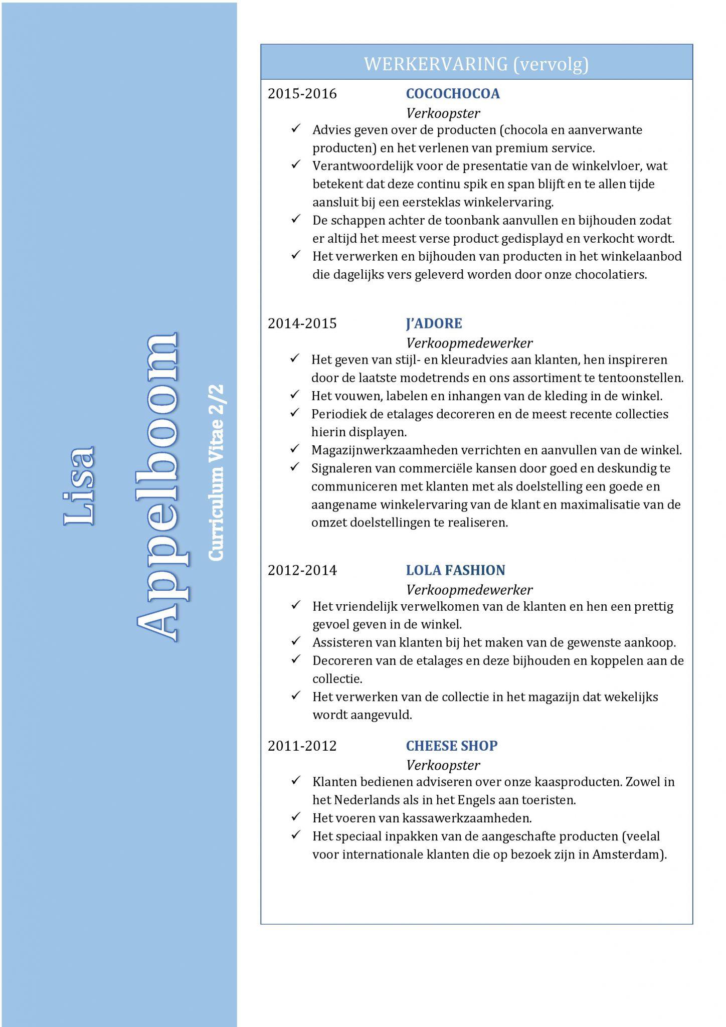 Super Gratis CV Sjabloon Voorbeelden | CV Templates / Sjablonen in Word &LH28