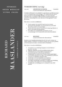 CV Sjabloon York 2-2 (2 paginas)