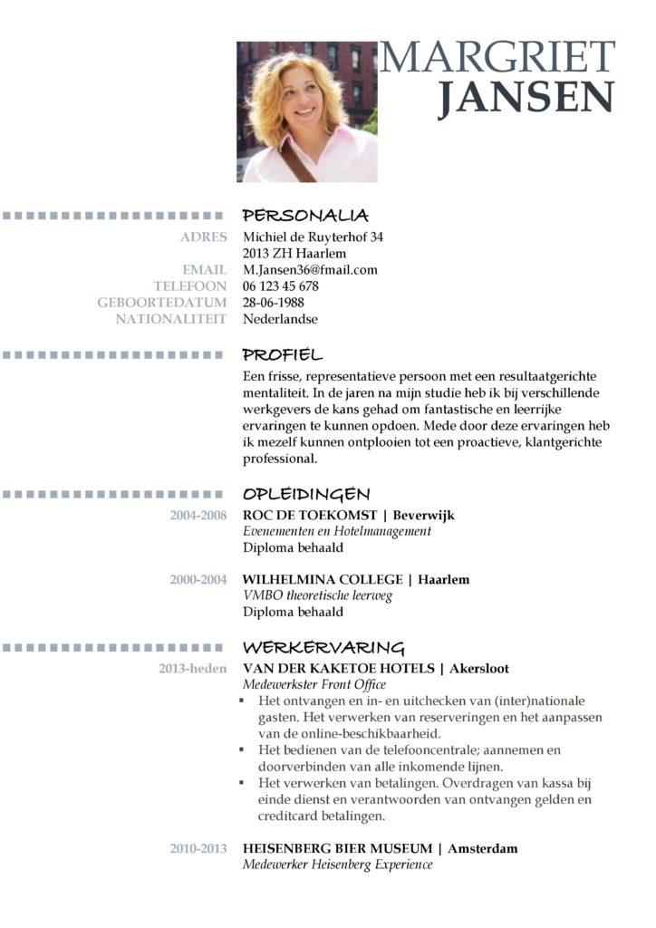 CV Voorbeeld Oxford